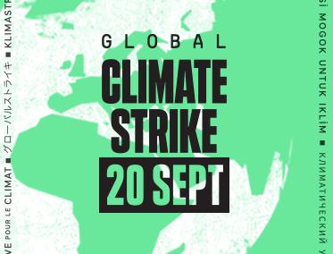 20 septembre – Grève mondiale pour le climat
