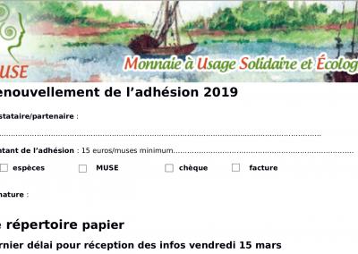 Adhésion prestataires 2019